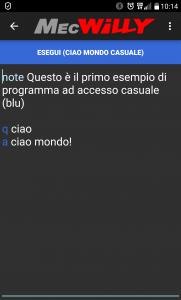 schermata modalità programmazione casuale