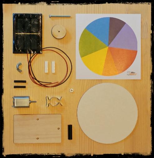 Ruota di newton solare (componenti)