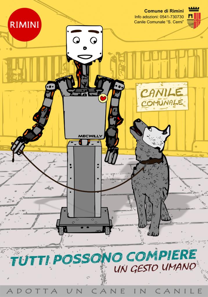 Locandina MecWilly e adozione cani