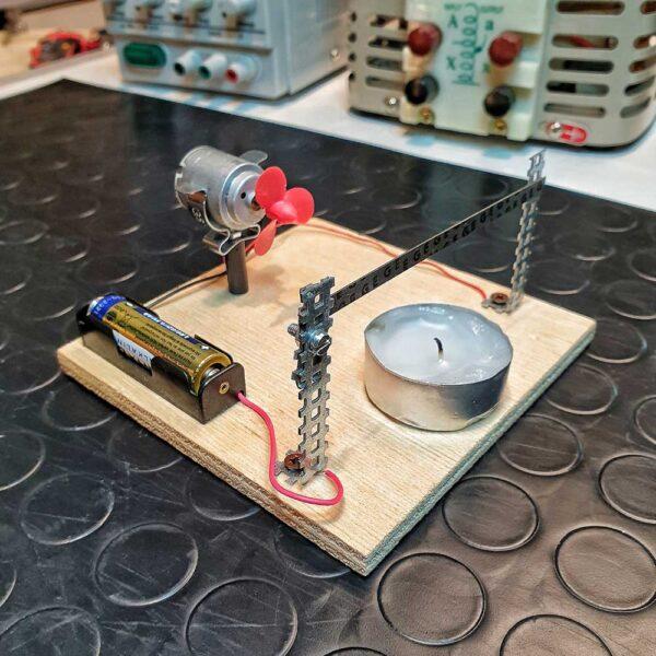 sistema automatico con bimetallo ventola e candela