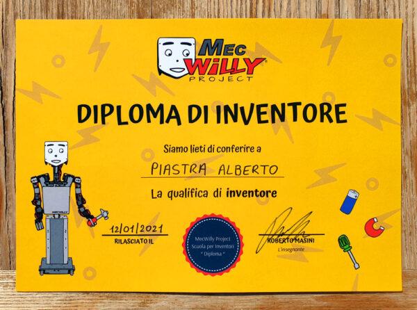 diploma da inventore